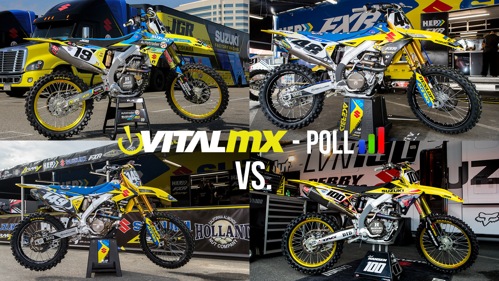Vital MX Bike Face-Off: JGR vs LVN100 vs HEP Suzuki