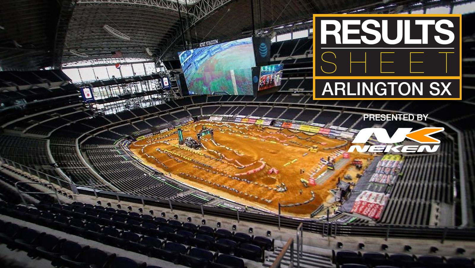 Results Sheet: 2018 Arlington Supercross