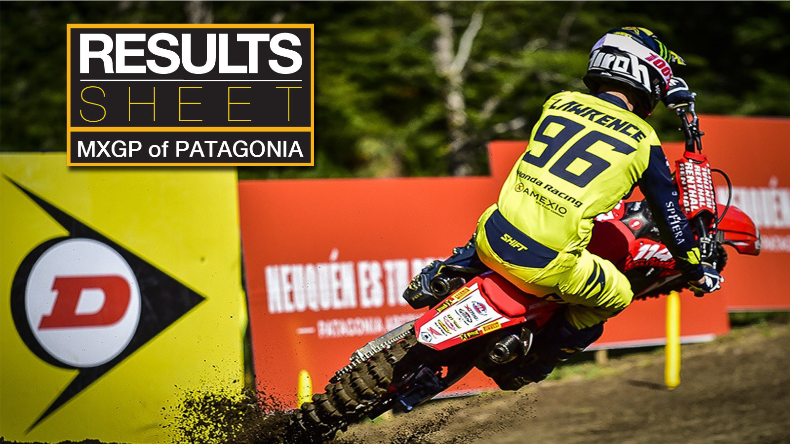 Results Sheet: 2018 MXGP of Patagonia