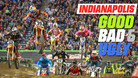 Indianapolis - The Good, the Bad, and the Ugly