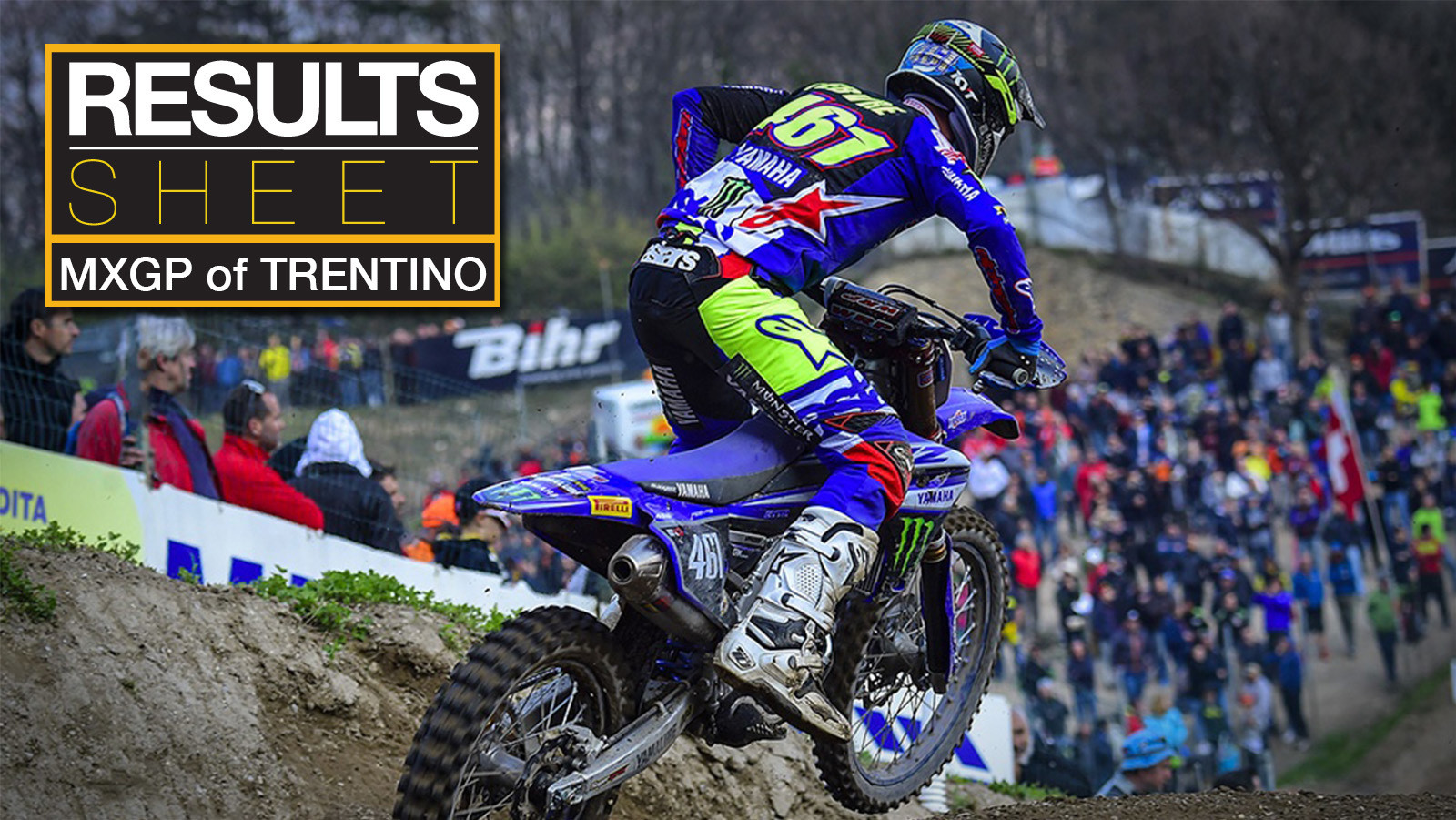 Results Sheet: 2018 MXGP of Trentino