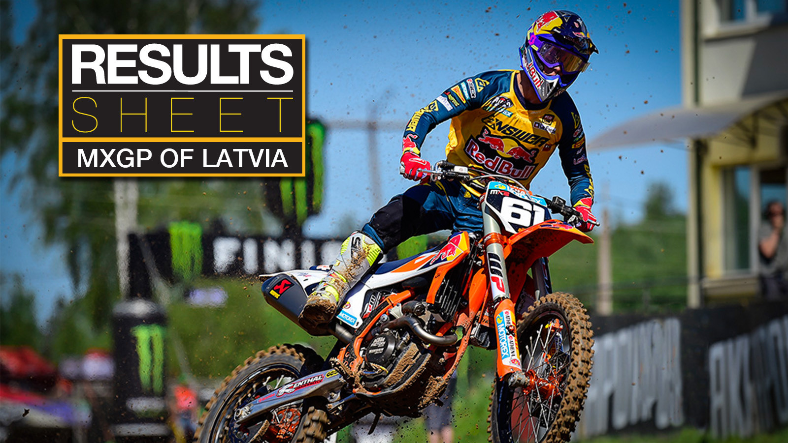 Results Sheet: 2018 MXGP of Latvia
