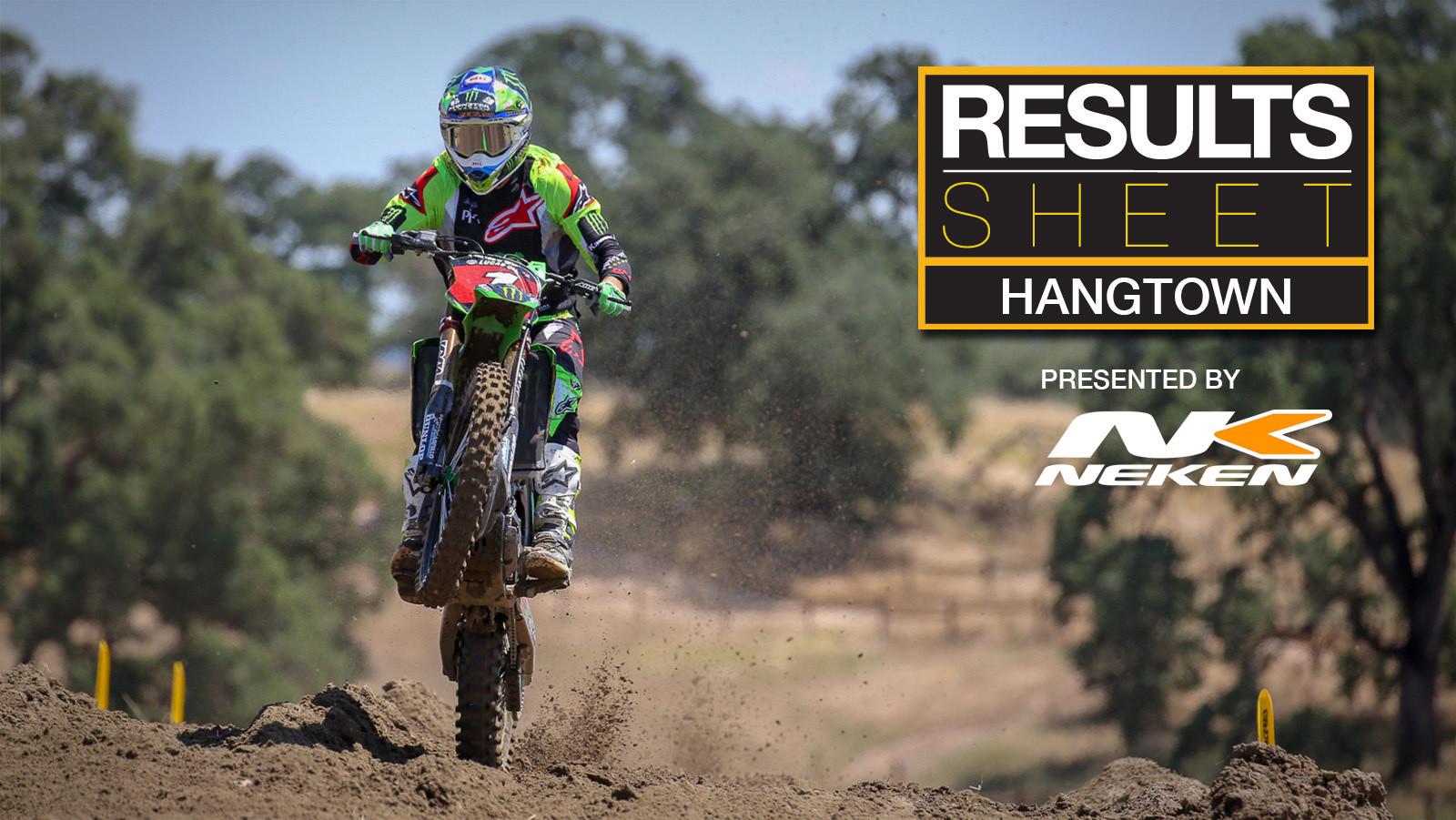 Results Sheet: 2018 Hangtown Motocross National
