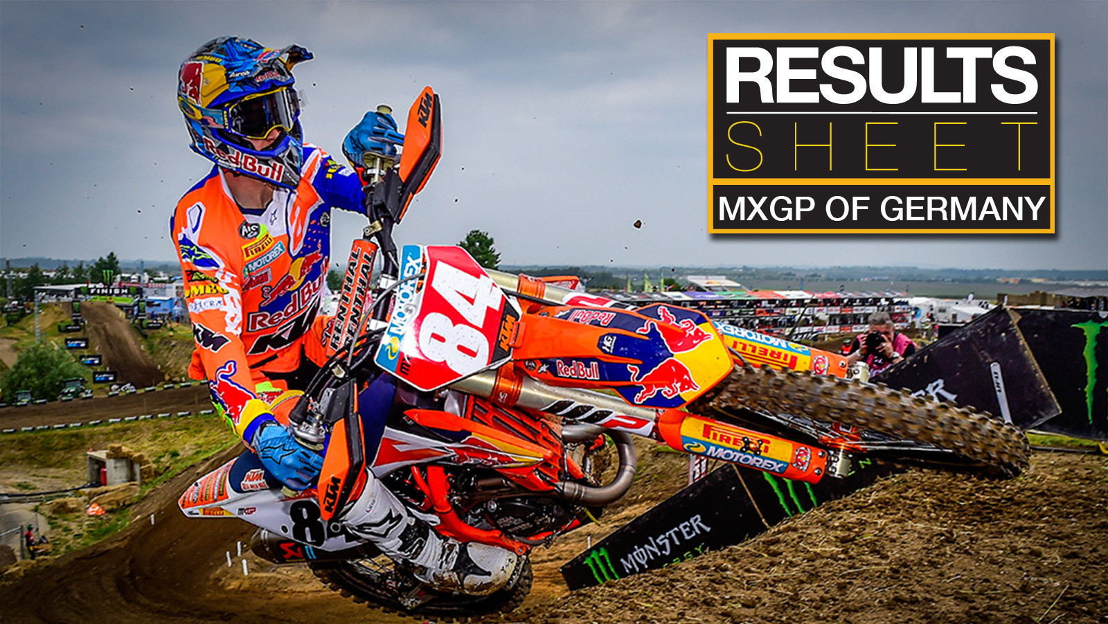 Results Sheet: 2018 MXGP of Germany