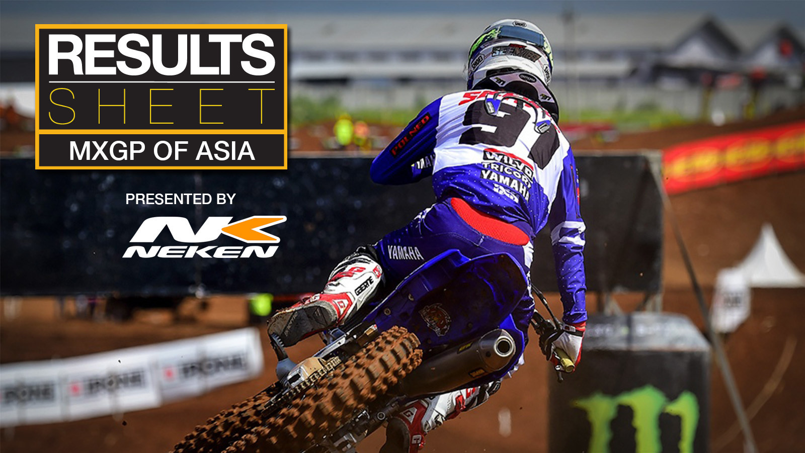 Results Sheet: 2018 MXGP of Asia