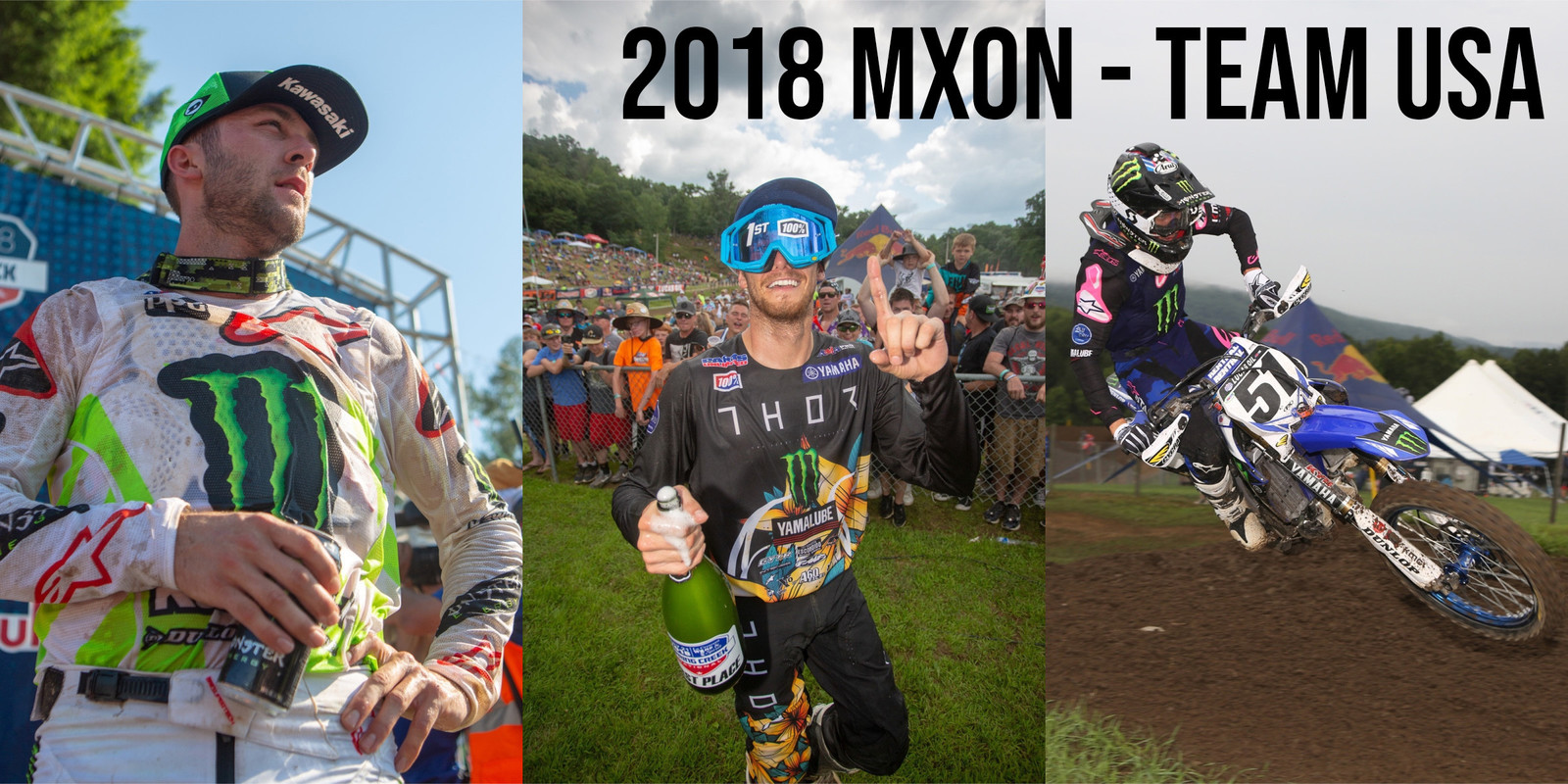 Eli Tomac, Aaron Plessinger, and Justin Barcia are Team USA for 2018