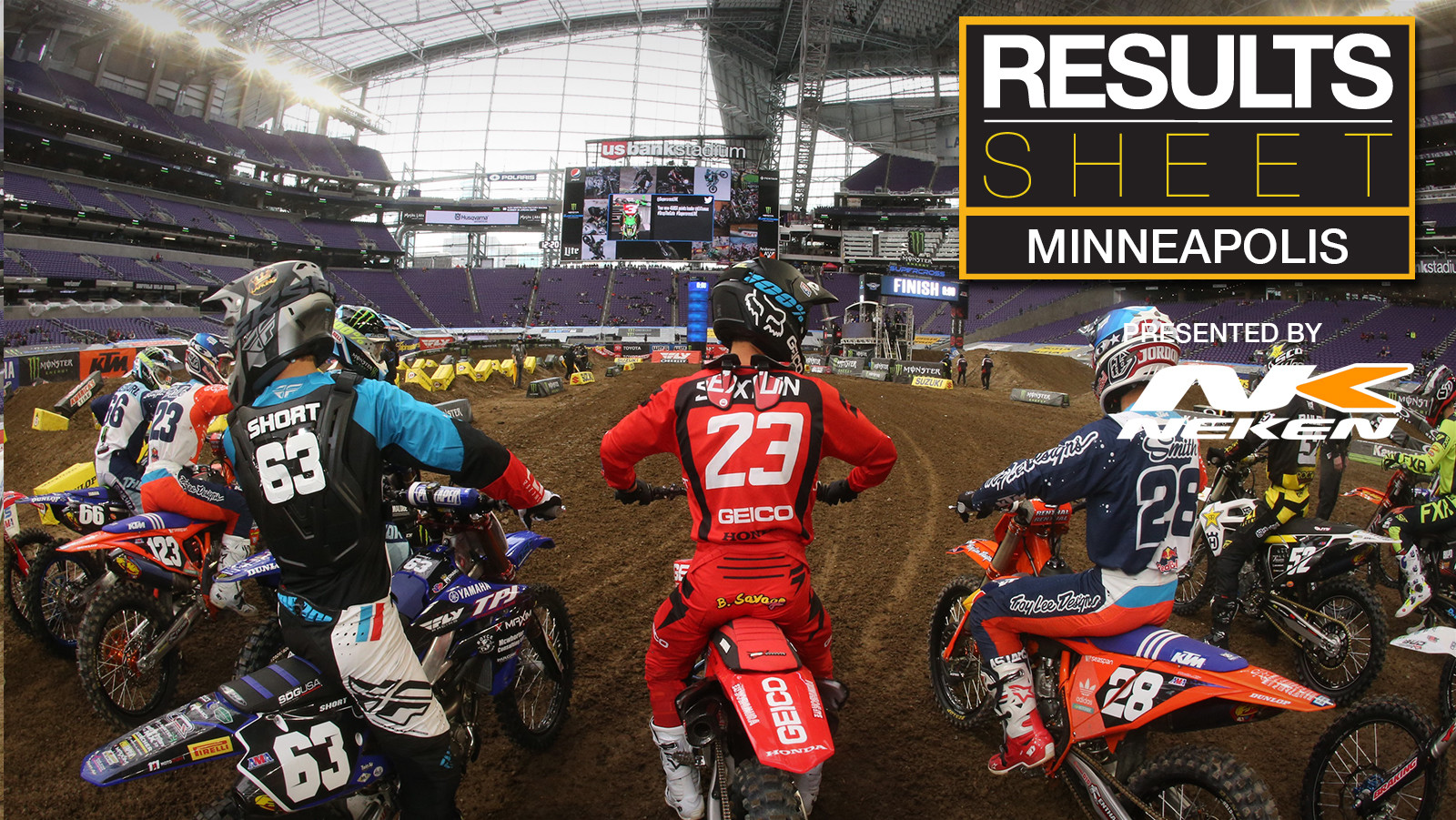 Results Sheet: 2019 Minneapolis Supercross