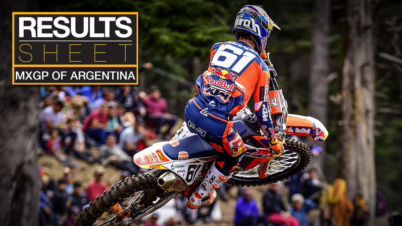 Results Sheet: 2019 MXGP of Argentina
