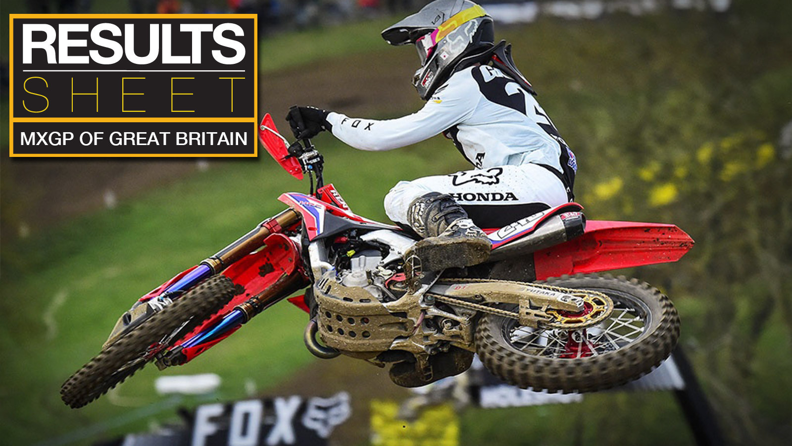 Results Sheet: 2019 MXGP of Great Britain