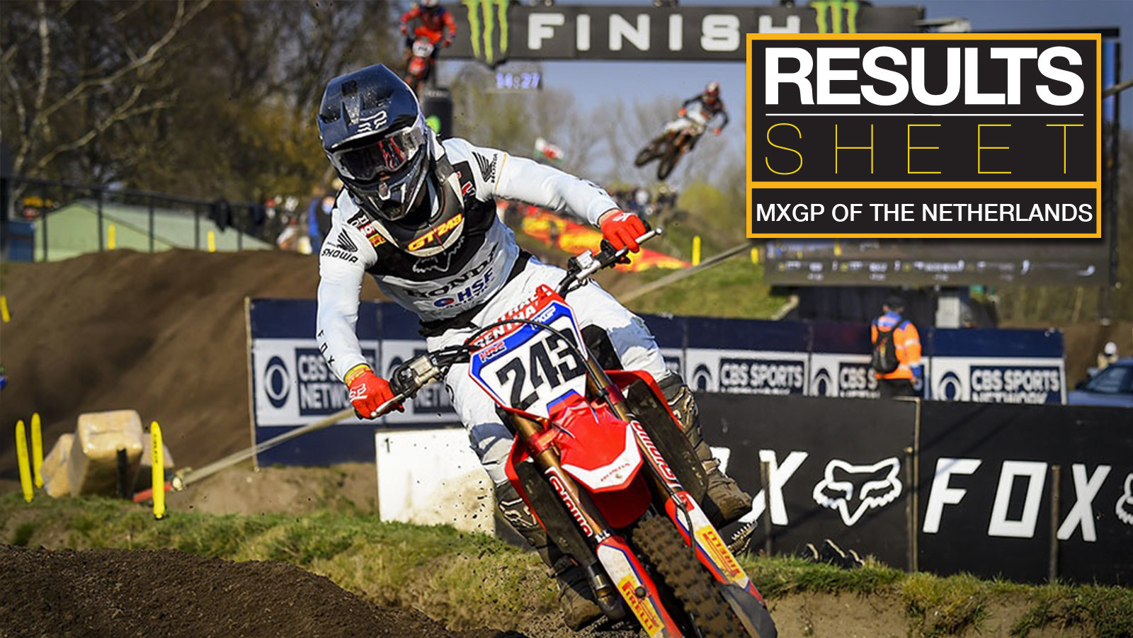 Results Sheet: 2019 MXGP of The Netherlands