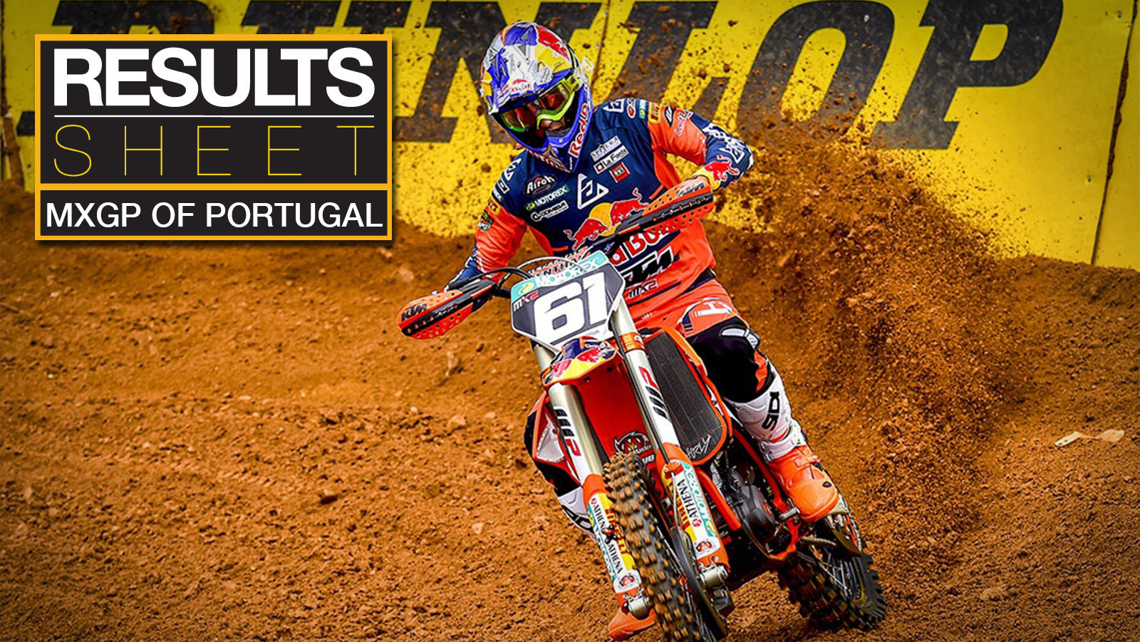 Results Sheet: 2019 MXGP of Portugal
