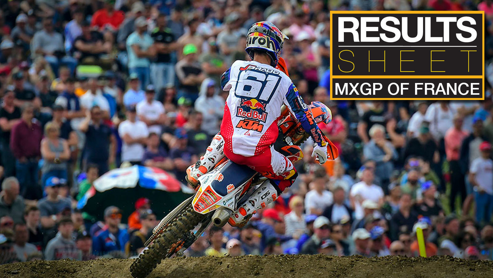 Results Sheet: 2019 MXGP of France