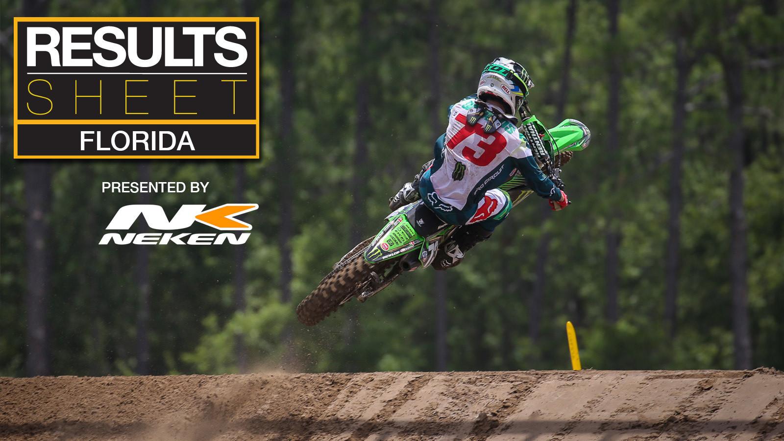 Results Sheet: 2019 Florida Motocross National