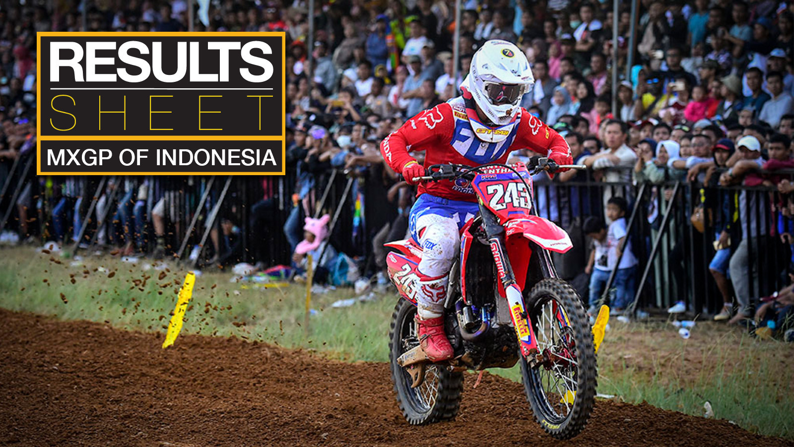 Results Sheet: 2019 MXGP of Indonesia