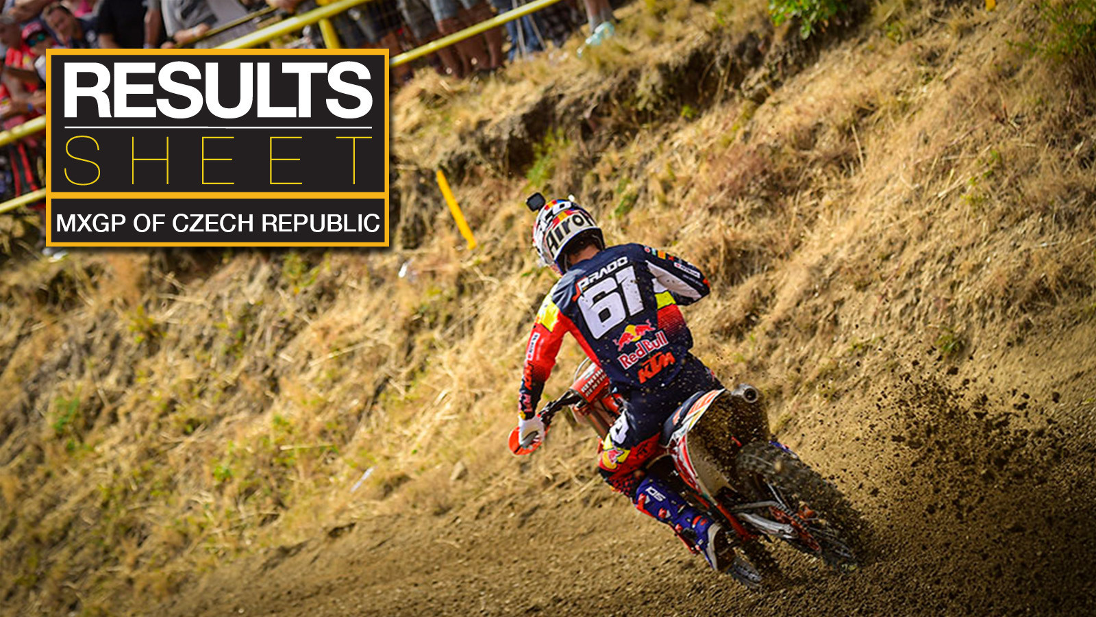 Results Sheet: 2019 MXGP of Czech Republic