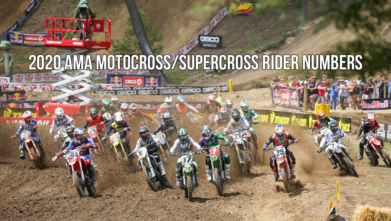 2020 AMA Motocross/Supercross National Rider Numbers