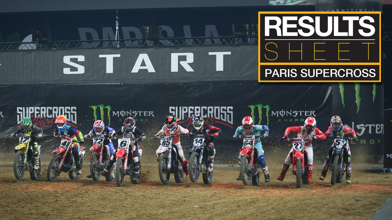 Results Sheet: 2019 Paris Supercross