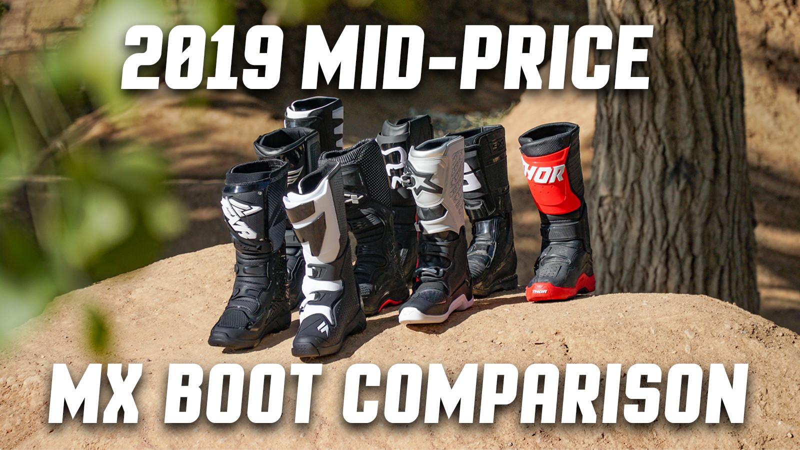 2019 Mid-Price Motocross Boot Comparison