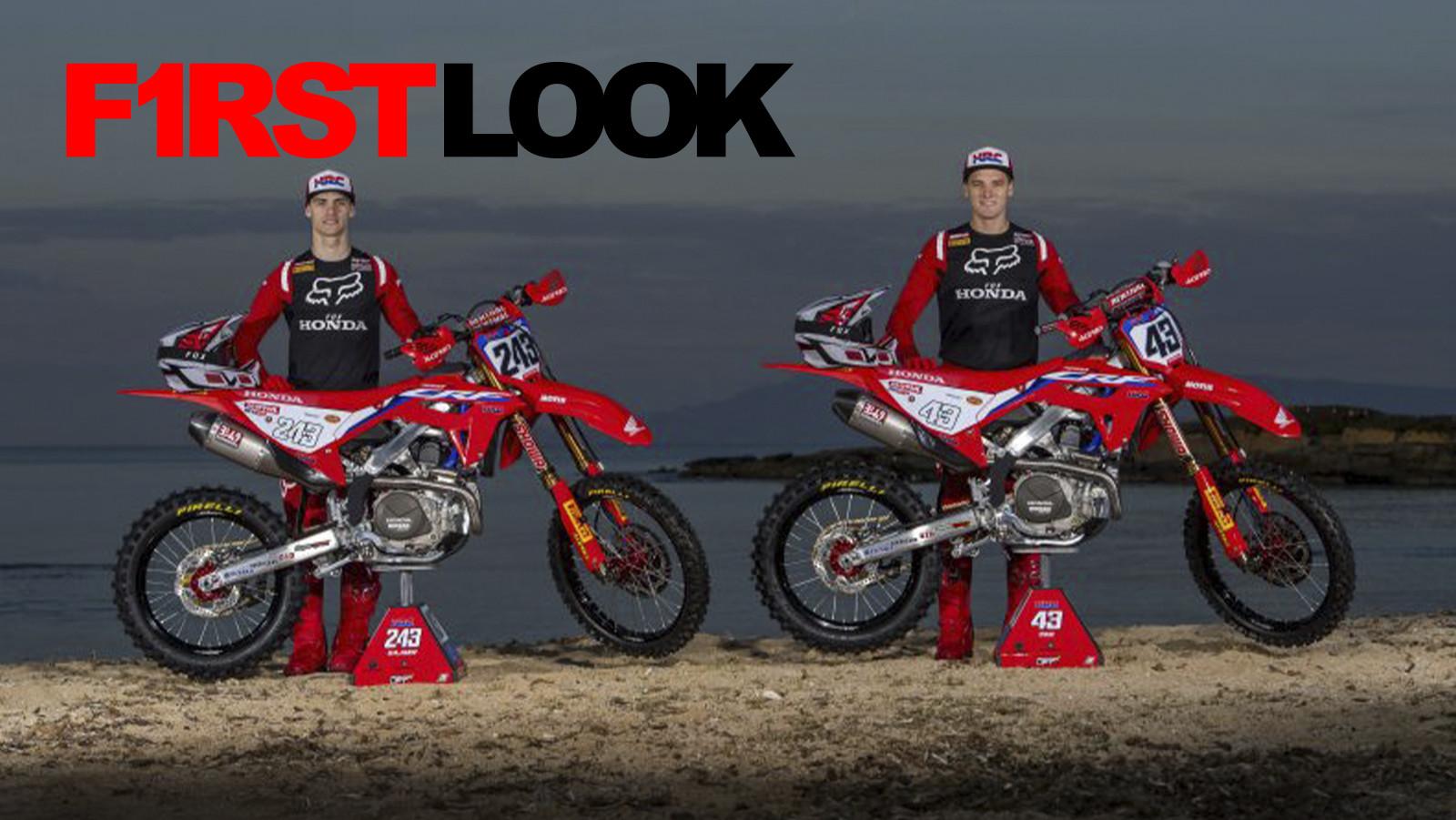 First Look: Honda HRC MXGP Team On Possible 2021 Honda CRF450RW