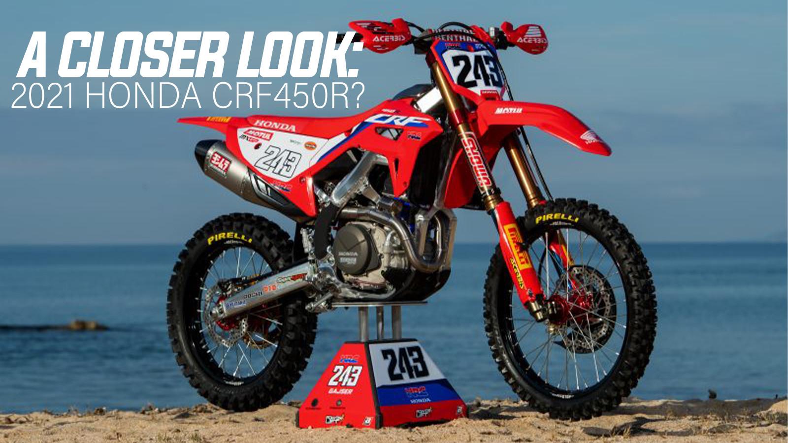 A Closer Look At The All New Honda CRF450RW