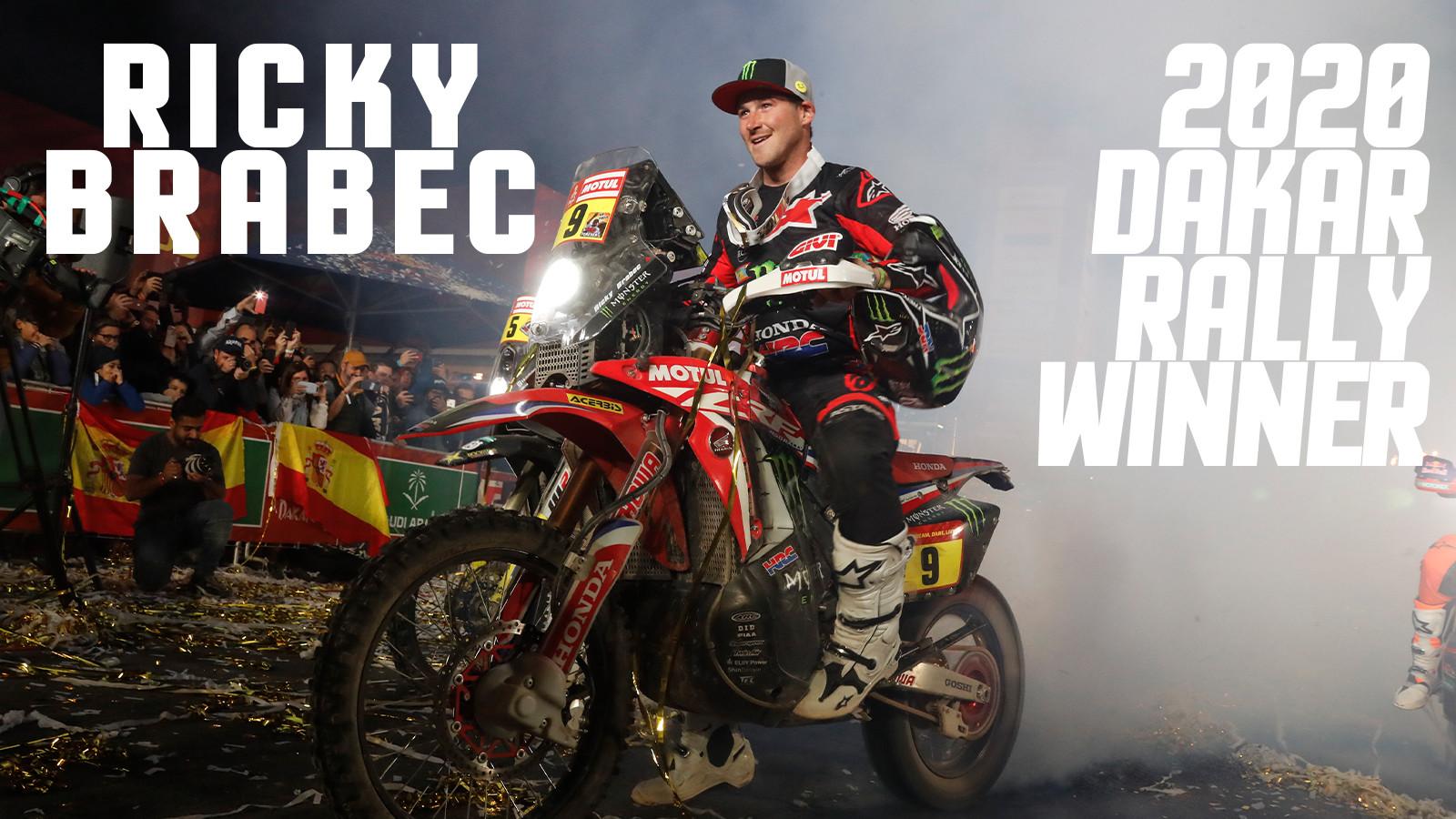 Ricky Brabec 2020 Dakar Rally Winner