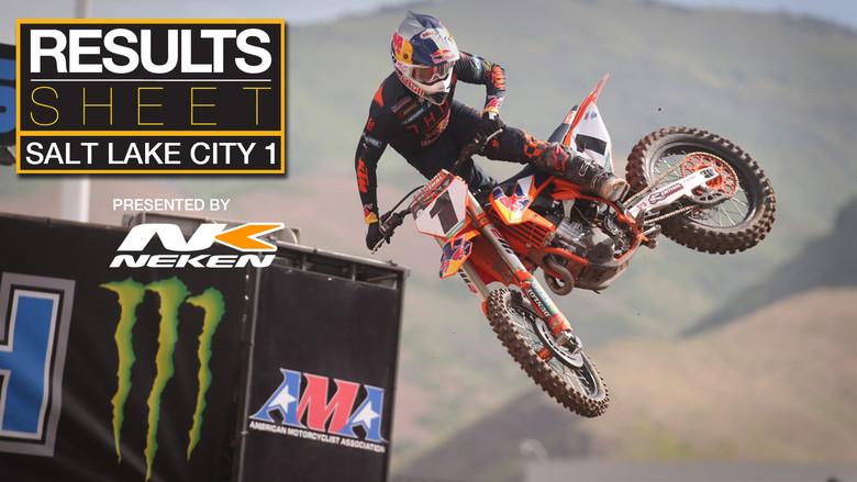 Results Sheet: 2020 Salt Lake City 1 Supercross