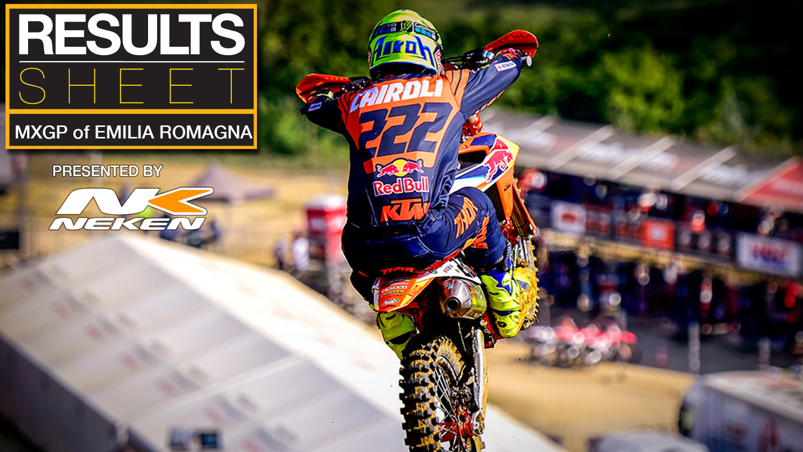 Results Sheet: 2020 MXGP of Emilia Romagna
