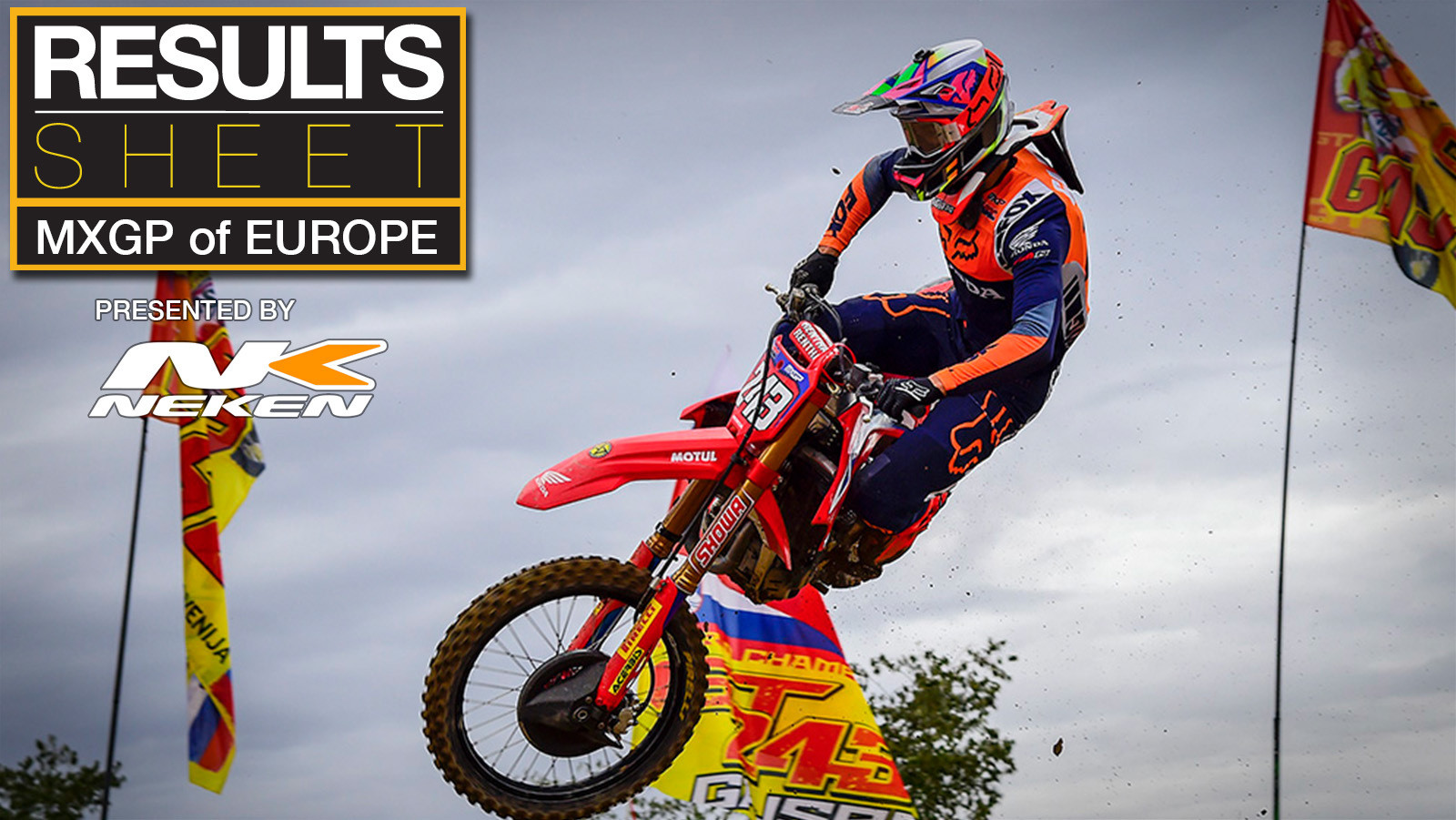 Results Sheet: 2020 MXGP of Europe