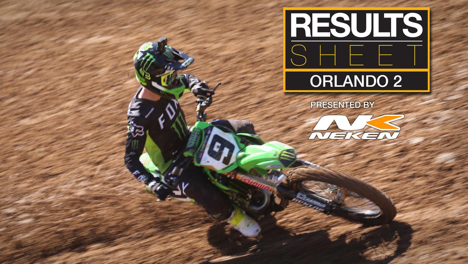 Results Sheet: 2021 Orlando 2 Supercross
