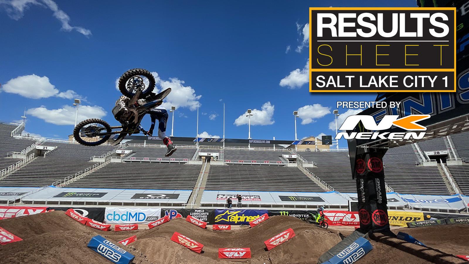 Results Sheet: 2021 Salt Lake City 1 Supercross