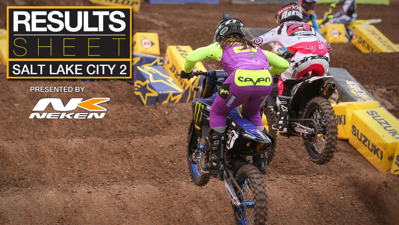 Results Sheet: 2021 Salt Lake City 2 Supercross