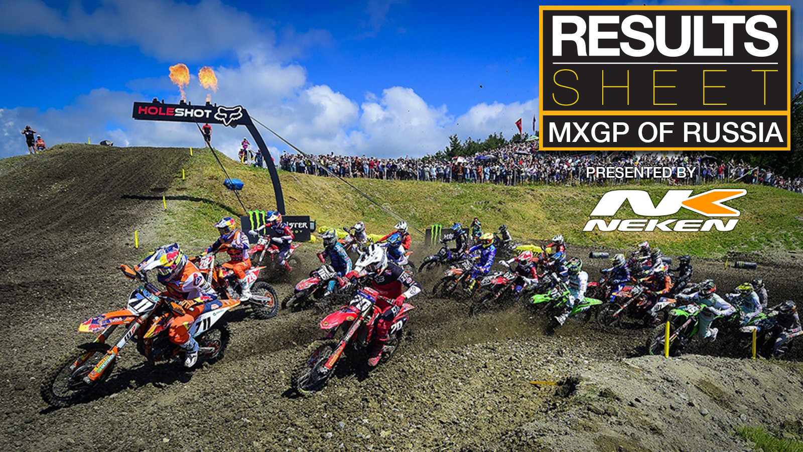 Results Sheet: 2021 MXGP of Russia