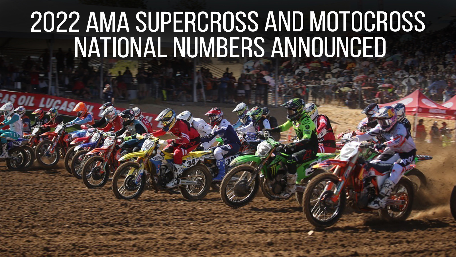 2022 AMA Supercross and Motocross National Numbers