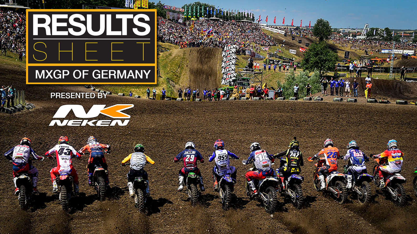 Results Sheet: 2021 MXGP of Germany