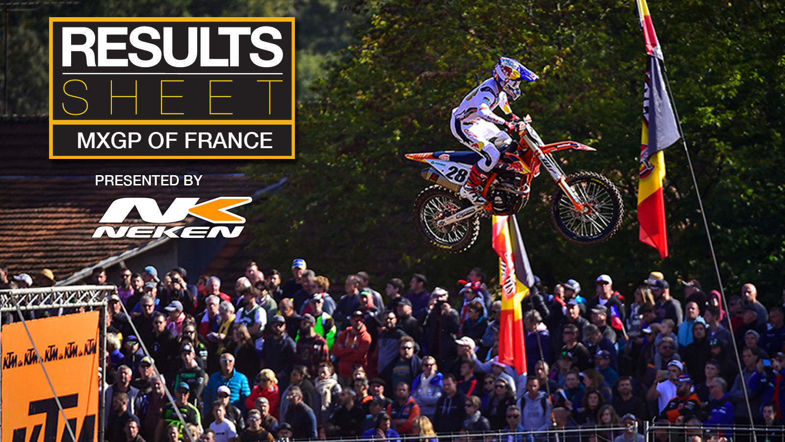Results Sheet: 2021 MXGP of France