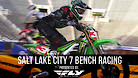Salt Lake City 7 Supercross - Timed Qualifying Bench Racing