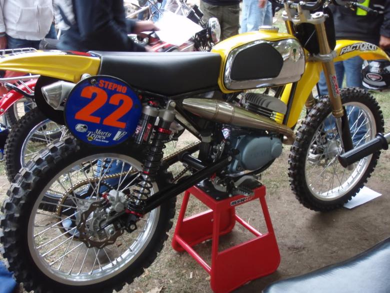 1974 yamaha mx 100 forks old school moto motocross for 100cc yamaha dirt bike