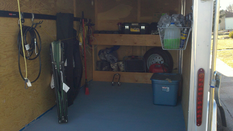 homemade enclosed trailer plans your enclosed trailer setups show em moto related motocross
