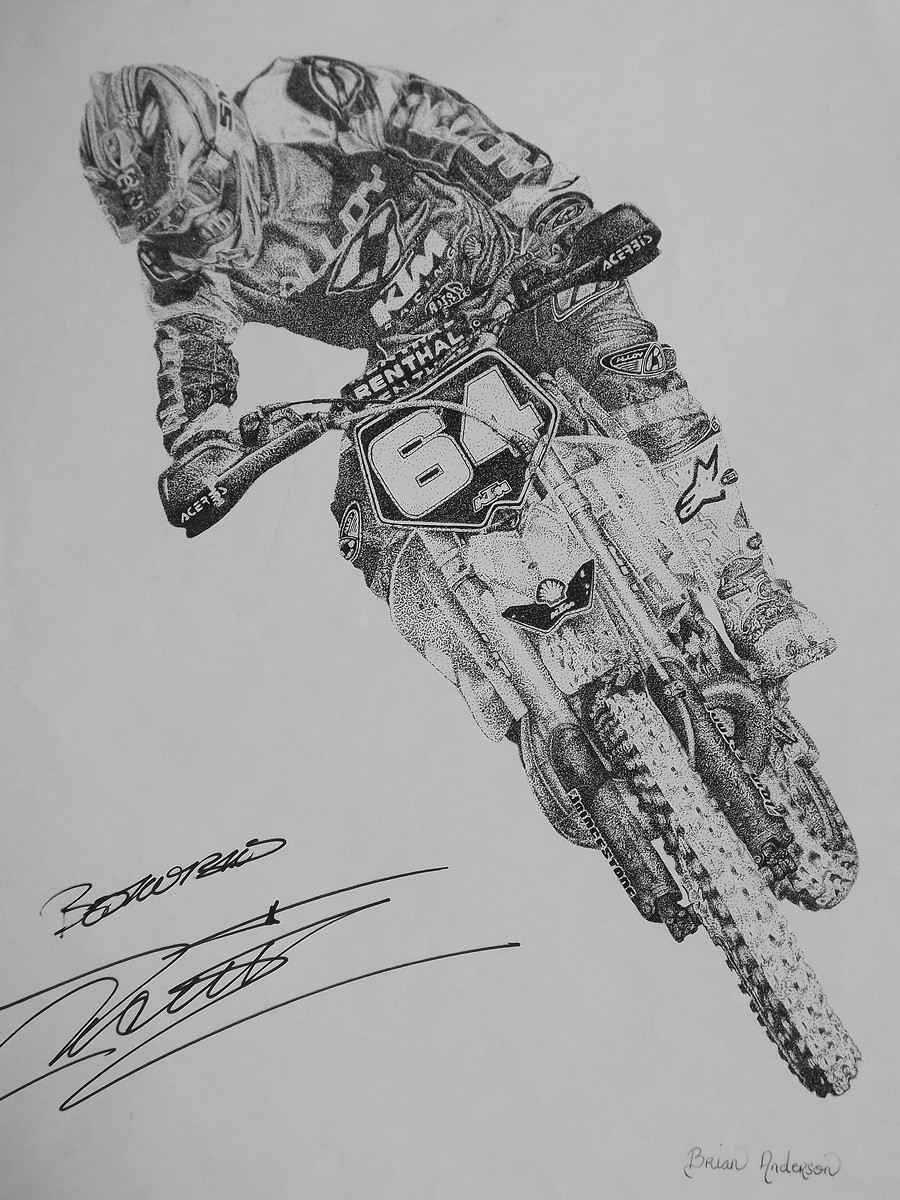 how to draw a dirt bike rider