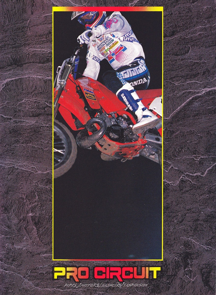 Here Is A Cool Pro Circuit Ad From 1989 Moto Related