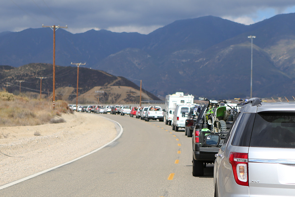 From the time we pulled off the highway we knew the day was going to be something special. We haven't seen lineups like this to get into Glen Helen since the glory days of the MX Nationals.