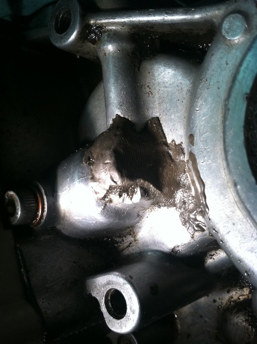 how to fix a cracked crankcase