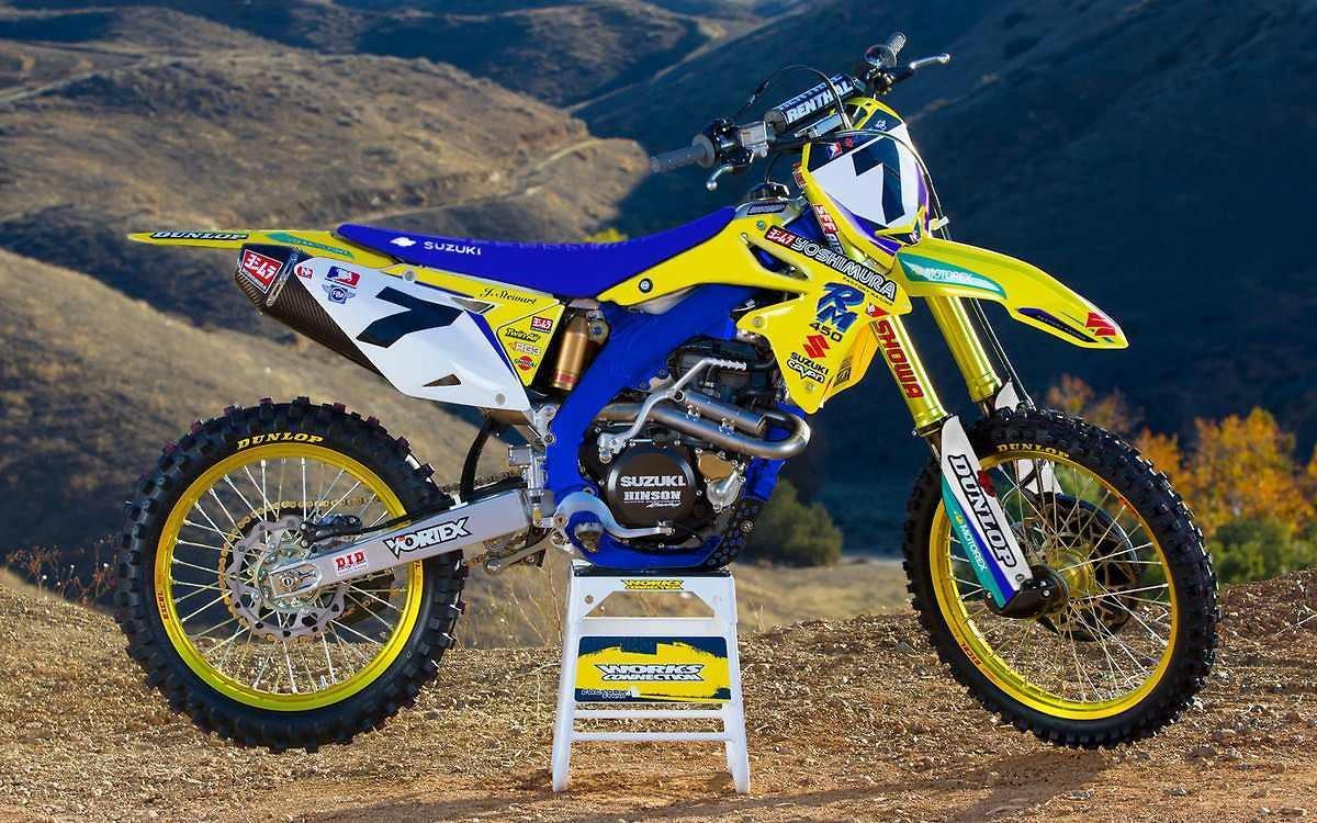 Yamaha Blue Dirt Bike Paint