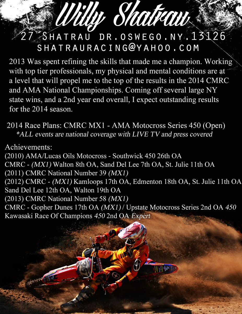 Sponsor Resume help? - Non-Moto - Motocross Forums / Message Boards ...