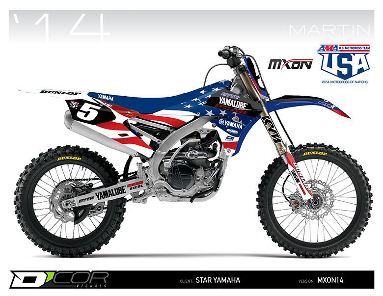 First Look 2014 Team Usa Mxon Graphics Moto Related Motocross