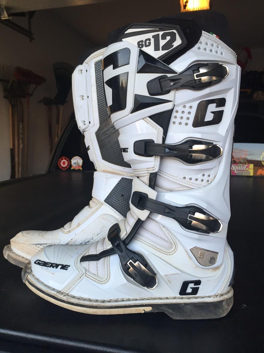 Gaerne Boots Sg12 >> Gaerne SG12 - White Size 11 - For Sale/Bazaar - Motocross Forums / Message Boards - Vital MX