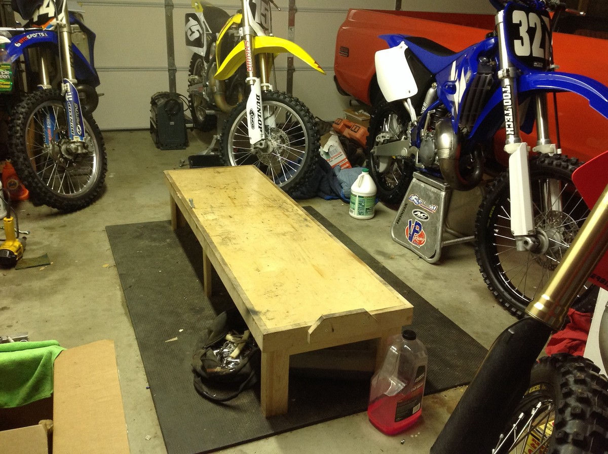 Homemade Work Station Tech Help Race Shop Motocross
