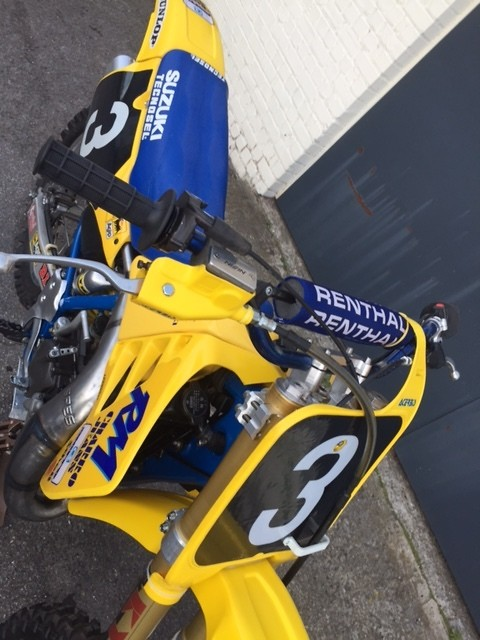 for sale   suzuki rm 125 factory - 1989 - pedro tragter - old school moto