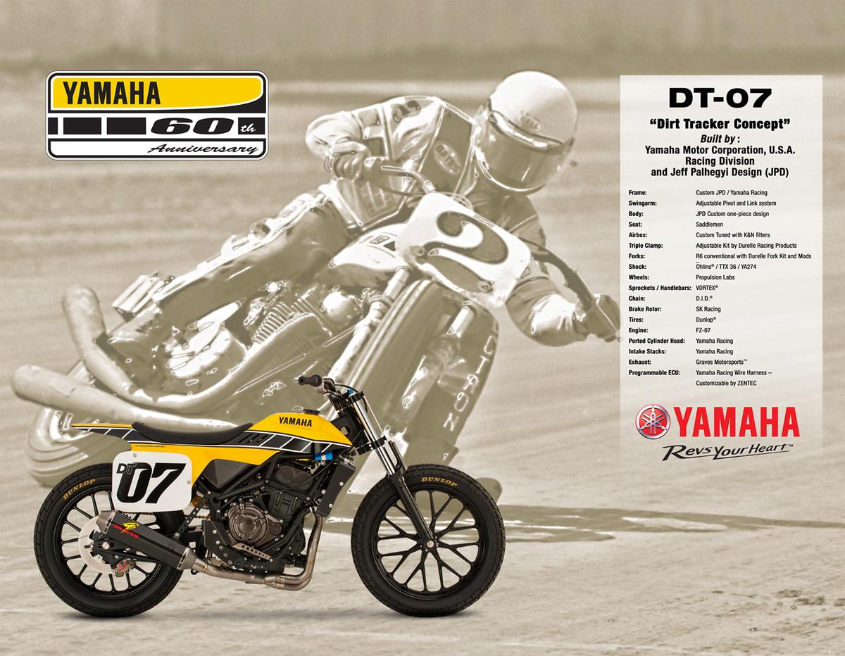 Yamaha flat track motorcycles