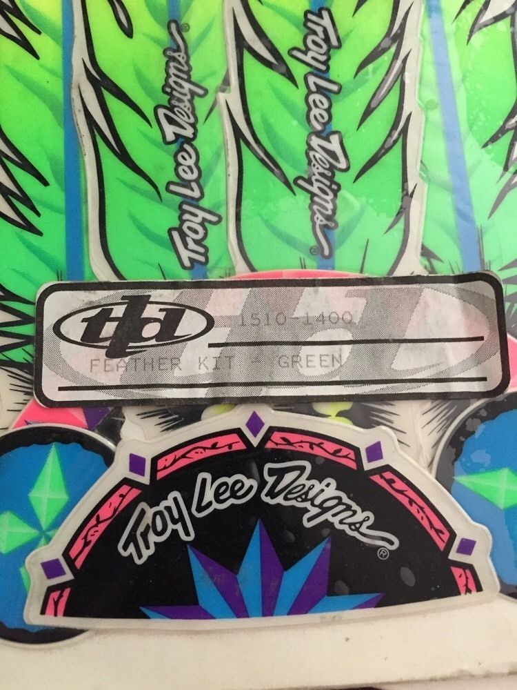 Troy Lee Designs Helmet >> Troy Lee Designs - vintage Feather sticker kit - Old School Moto - Motocross Forums / Message ...